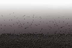 Dark minimalistic abstract background with metal particles and gradient. stock images