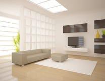 Dark modern design interior Royalty Free Stock Photos