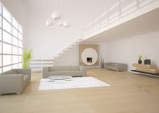 Dark modern design interior Stock Photo