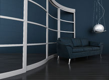 Dark modern interior Royalty Free Stock Photography