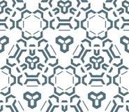 Dark monochrome color abstract geometric seamless pattern. Vector dark monochrome color abstract geometric seamless pattern white background Stock Image