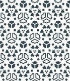 Dark monochrome color angular abstract geometric seamless patter Stock Image