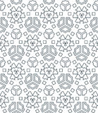 Dark monochrome color angular outline abstract geometric seamles Stock Image