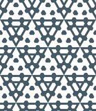 Dark monochrome color triangle abstract geometric seamless patte Stock Photo