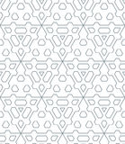Dark monochrome color triangle outline abstract geometric seamle Stock Photography