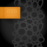 Dark monochrome spotted seamless border. Stock Images