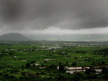 Dark Monsoon Landscape Royalty Free Stock Photography