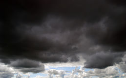 Dark Moody Clouds Stock Images