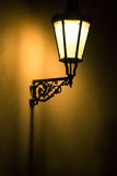 Dark moody picture of old lamp on Stock Photography