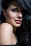 Dark moody portrait of a brunette beauty Stock Photo