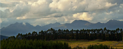 Dark mountains Stock Image