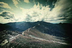 Dark mountains landscape. Royalty Free Stock Photography