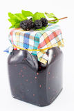 Dark mulberry jam-more Stock Image