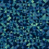 Dark multicolor polygonal background. Consists of squares divided into triangles Vector Illustration
