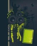 Dark Music Night. Vector Illustration Royalty Free Stock Photography