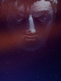 Dark mysterious face of a Buddha statue Royalty Free Stock Images