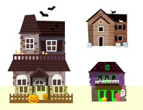 Dark mysterious obscure gloomy terrible witch castle with spooky for Halloween design vector illustration stock illustration