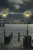 Dark and mysterious San Giulio island Stock Image