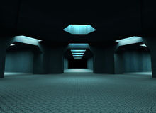 Dark mysterious tunnels Royalty Free Stock Image