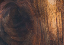 Dark natural walnut wooden texture, wallpaper or background Stock Photography