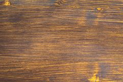 Dark natural wooden background painted with wood stain. For brown toning stock photos