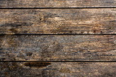 Dark natural wooden plank Stock Photography
