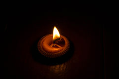 Dark night with the lighting of candles. Royalty Free Stock Image