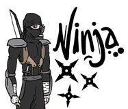 Dark ninja Stock Image