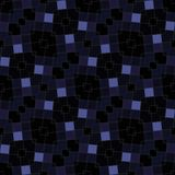 Dark oblique mosaic kaleidoscopic tile able background Stock Photography