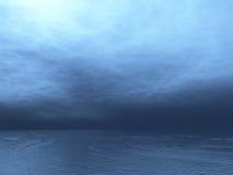 Dark ocean. And cloud render Royalty Free Stock Photography