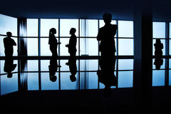 Dark office Stock Photos