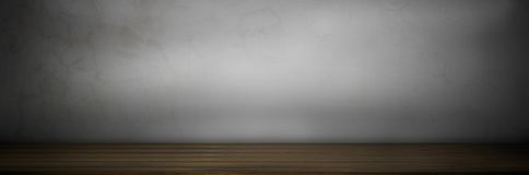 dark old grung top of wood table floor background on gray wall royalty free stock photo