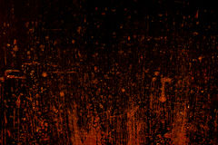 Dark old scary rusty rough golden and copper metal surface texture/background for Halloween or haunted house games background/text Stock Photography