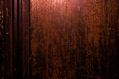Dark old scary rusty rough golden and copper metal surface texture/background for Halloween or haunted house games background/text Stock Images