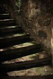 Dark Old Stone Stairs Stock Photos