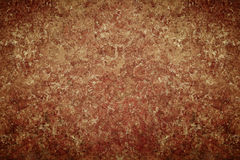 Dark old vintage brown chapped wall Royalty Free Stock Images