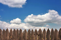 Dark old wood fence Royalty Free Stock Photo