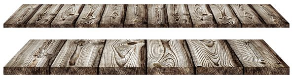 Dark old wooden planks isolated Royalty Free Stock Photography