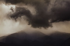 Dark ominous clouds. Dramatic sky. Royalty Free Stock Photography