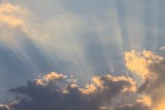 Dark ominous clouds. Dramatic sky Stock Images