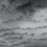 Dark ominous grey storm clouds. Royalty Free Stock Photo