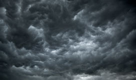 Dark, Ominous Rain Clouds. Promise Rain Stock Image