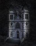 Dark Ominous Stone Castle Illustration Royalty Free Stock Photos