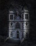 Dark Ominous Stone Castle Illustration Royalty Free Stock Photos