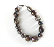 Dark Onyx beaded bracelet Stock Photography