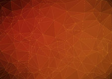 Dark orange abstract polygonal background Stock Photography