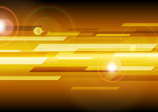 Dark orange abstract tech background Royalty Free Stock Photography