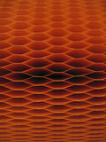 Dark Orange Accordion Lantern  Stock Photo