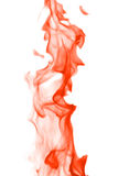 Dark orange flame on white Stock Images