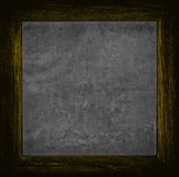 Dark orange grunge canvas with wood frame Stock Images